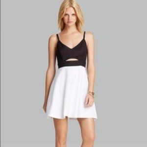 BB Dakota Color Block Cut Out Tank Skater Dress